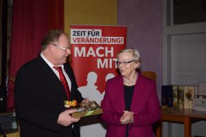 110 Jahre SPD Altenkunstadt,Inge Goebel und Karlheinz Hofmann
