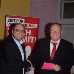 Kreisvorsitzender Sebastian Müller und Karlheinz Hofmann