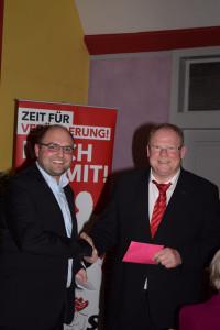 110 Jahre SPD Altenkunstadt,Kreisvorsitzender Sebastian Müller und Karlheinz Hofmann