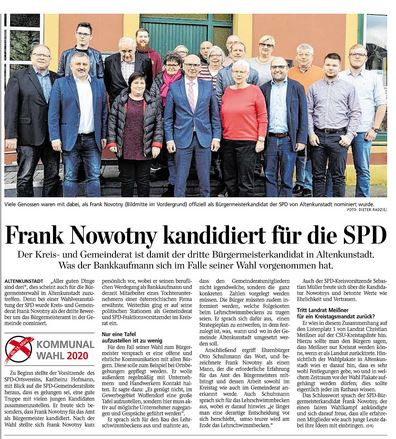 Frank Novotny will es wissen